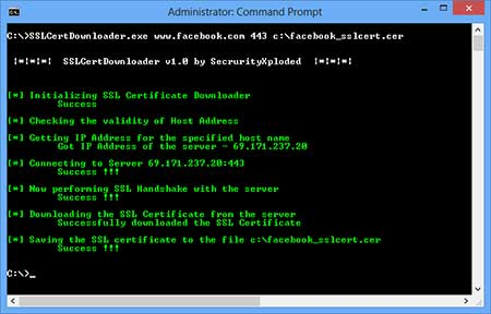SSL Certificate Downloader Screen shot