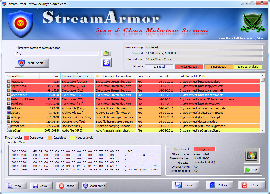 Stream Armor Screen shot
