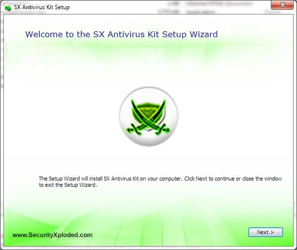 SX Antivirus Kit Screen shot