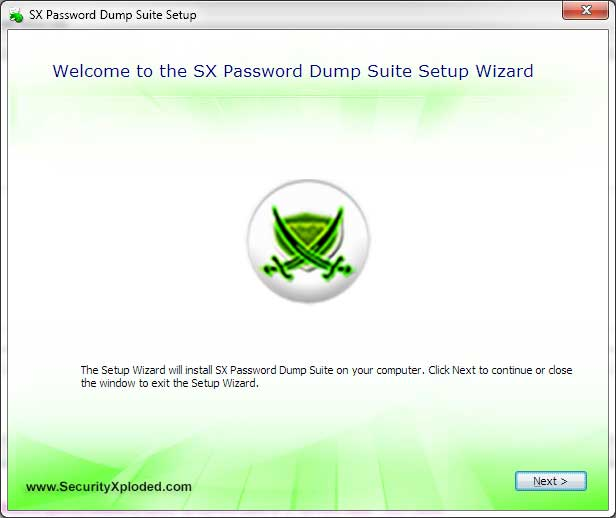 SX Password Dump Suite Screen shot