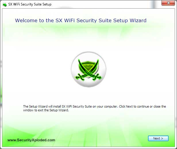 SX WiFi Security Suite Screen shot