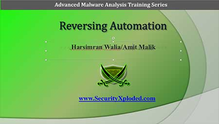 Advanced Malware Analysis Training Session 5 – Reversing Automation