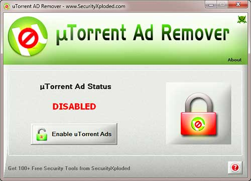 AD Remover for uTorrent Screen shot