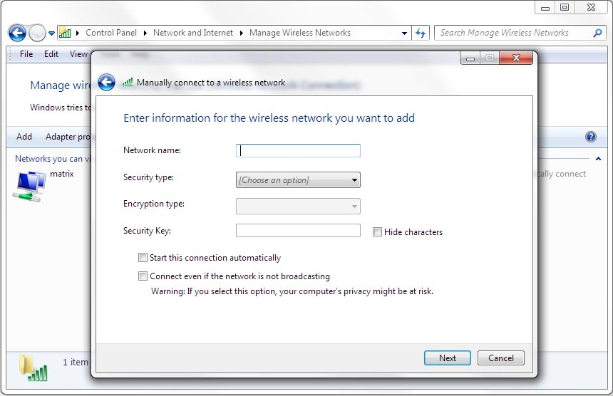 how to change wifi password windows 8