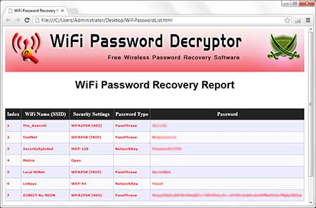 WiFiPasswordDecryptor