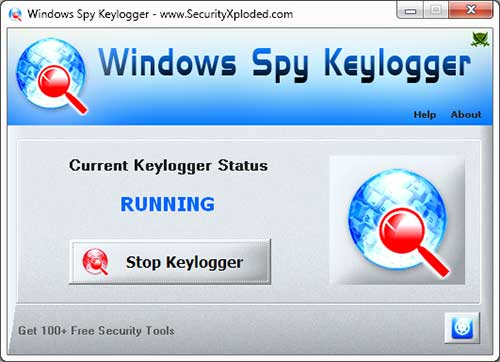 Spy Keylogger for Windows Screen shot