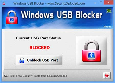 USB Blocker for Windows Screen shot