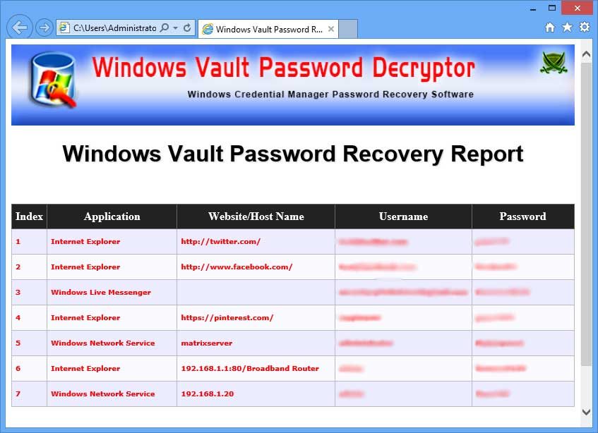 Windows Vault Password Decryptor: Free Tool to Recover Credential