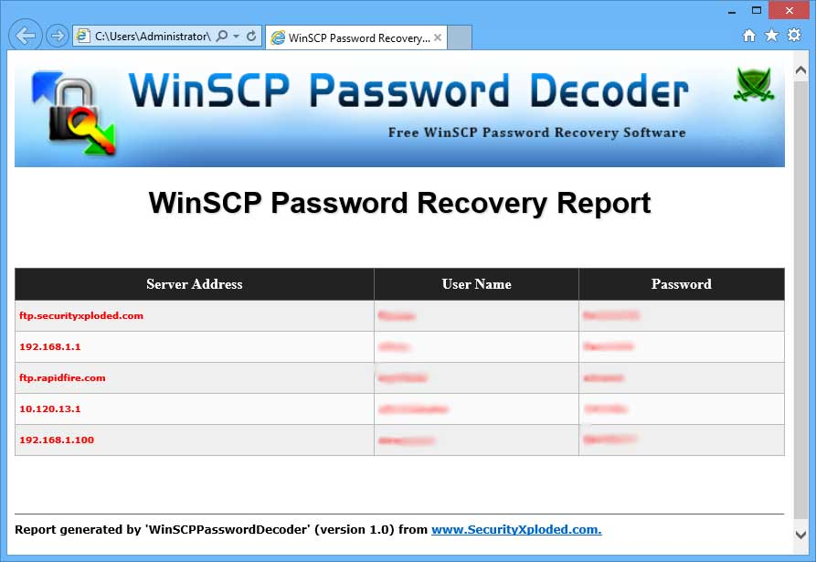 WinSCP Password Decoder: Free Tool to Recover Lost or