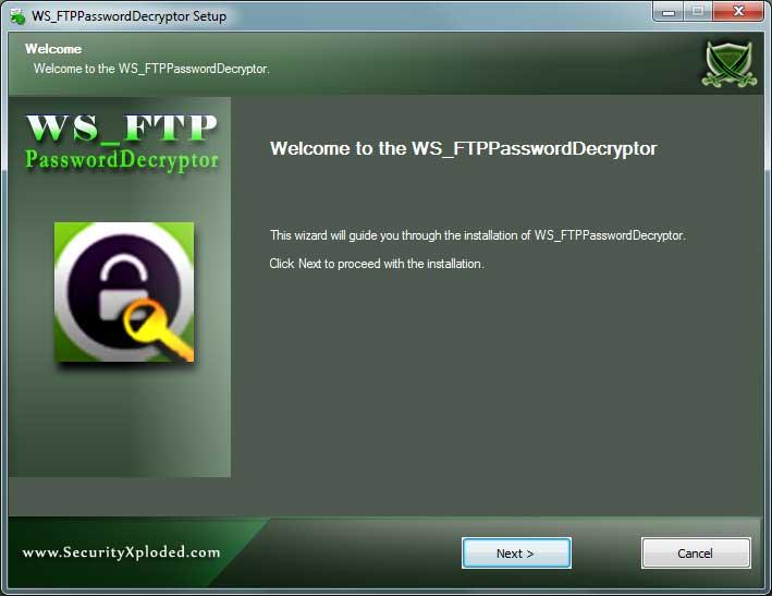 WS_FTPPasswordDecryptor Installer