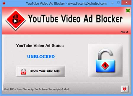YouTubeVideoAdBlocker Screen shot